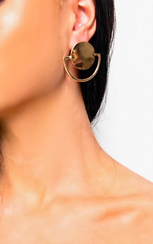 Lila Circle Detailed Earrings