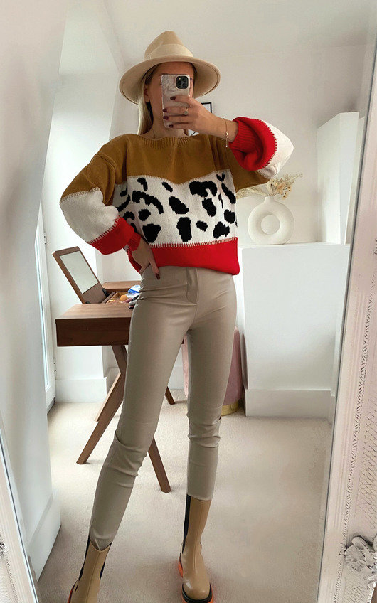 Lilia Knitted Leopard Print Jumper