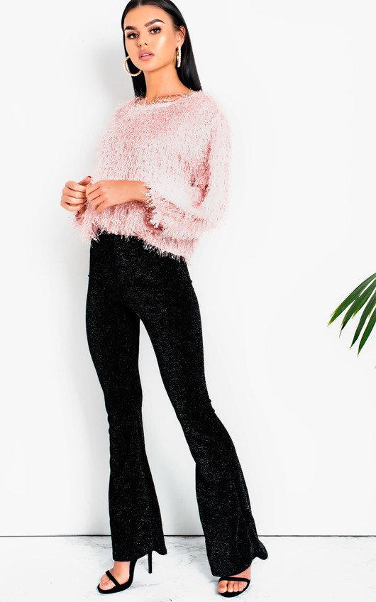 Lilianna Glitter Flare Trousers