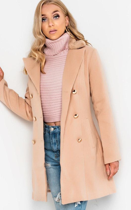 Lilla Faux Fur Detail Coat