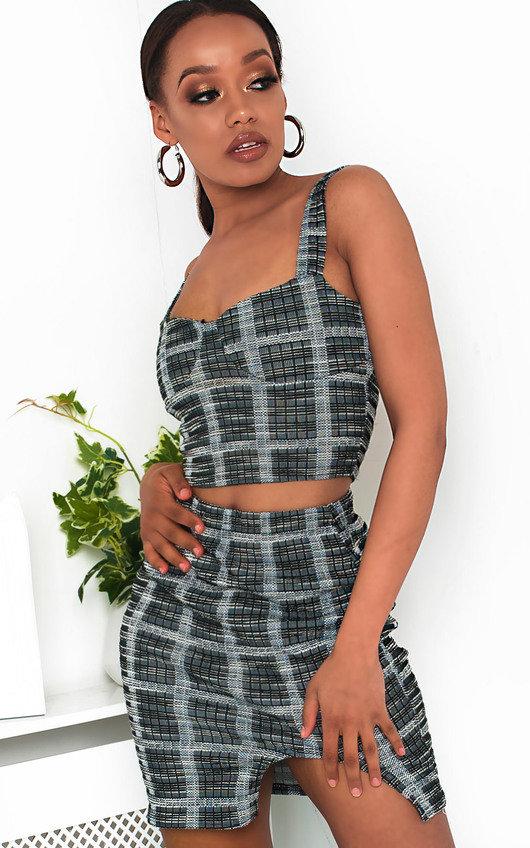 Lilla Tweed Crop Top & Skirt Co-Ord