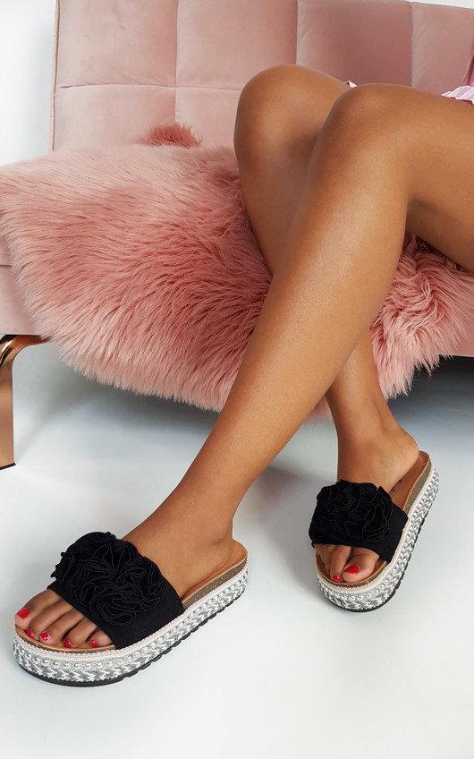 Lilli Flower Detail Flatform Sandals