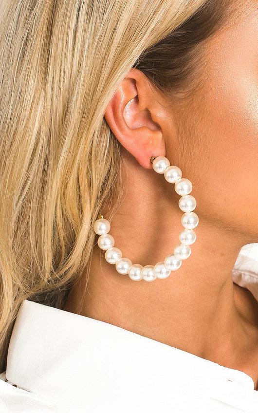 Lilli Pearl Hoop Earrings
