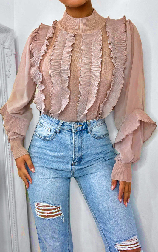 Lilli Ruffle Sheer Top