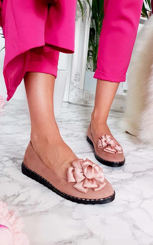 Lillie Floral Bow Flat Sandal