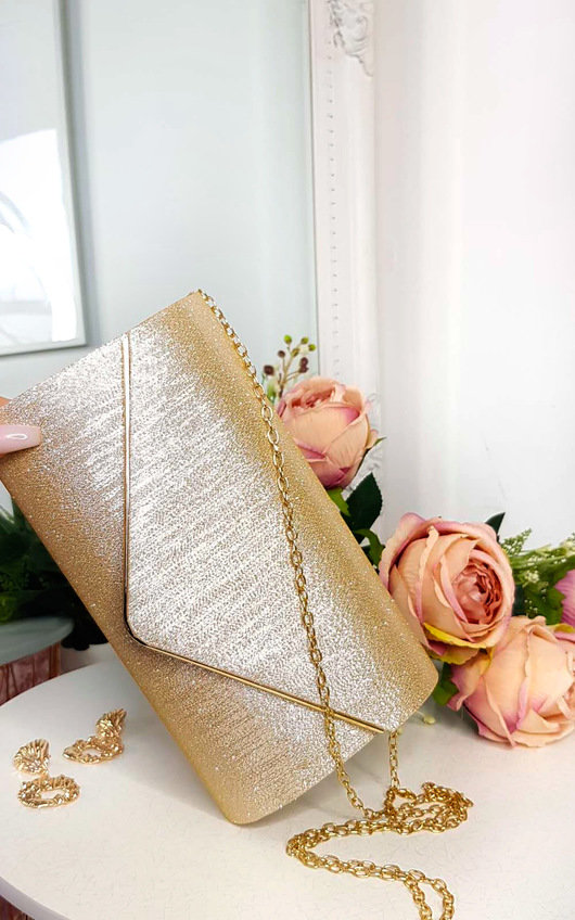 Lills Glitter Envelope Clasp Clutch Bag