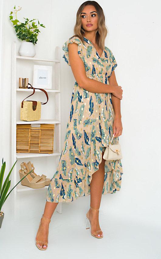Lilly Chiffon Frill Maxi Dress