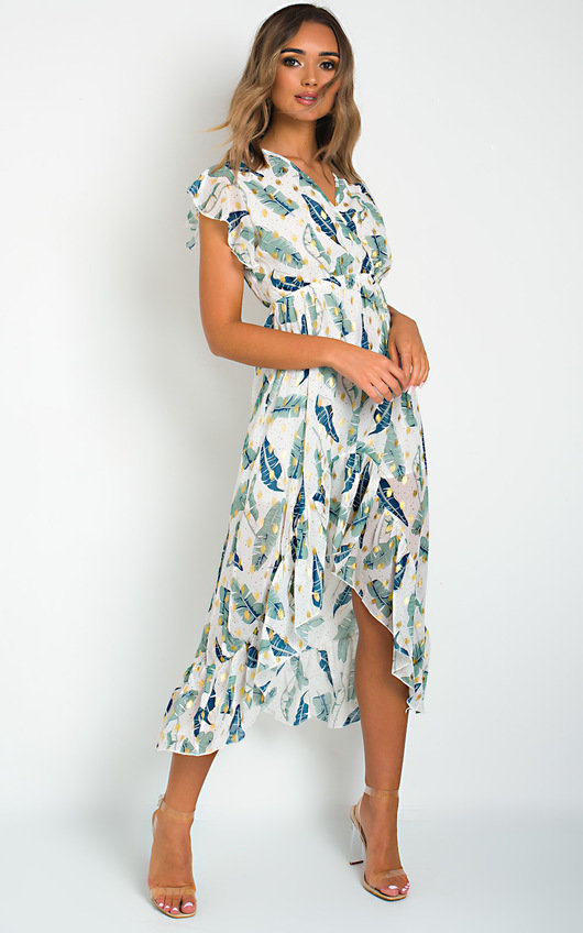 Lilly Chiffon Frill Maxi Dress