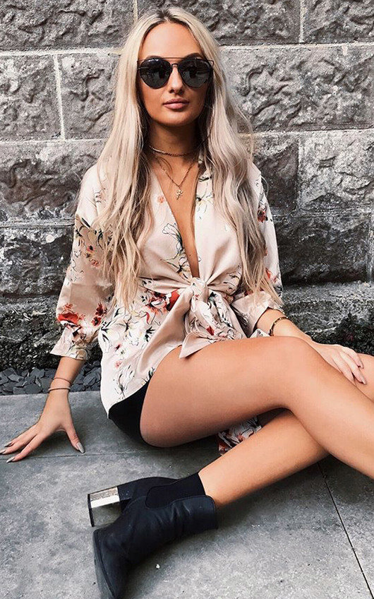 Lilly Floral Wrap Blouse
