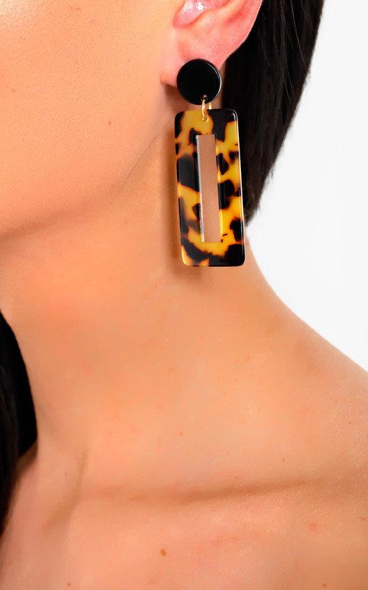 Lina Geometric Drop Earrings