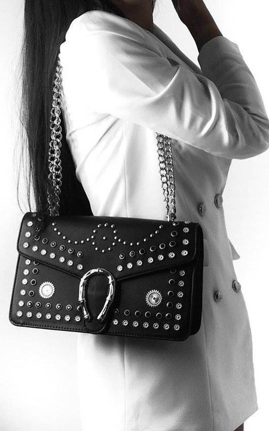 Lina Studded Buckle Shoulder Bag