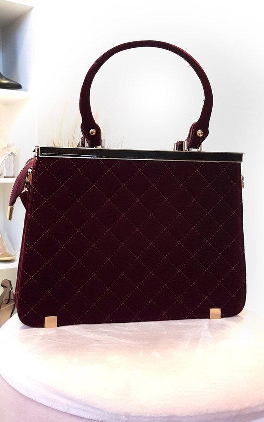 Lindi Faux Suede Handbag