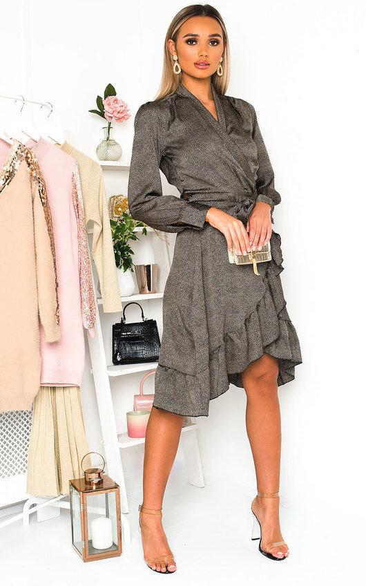 Lindy Wrap Midi Dress