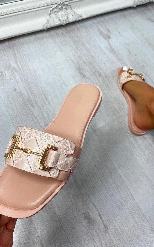 Linette Gold Bar Detail Sliders
