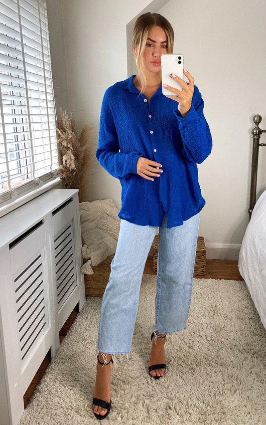 Lisanne Cheesecloth Oversized Shirt