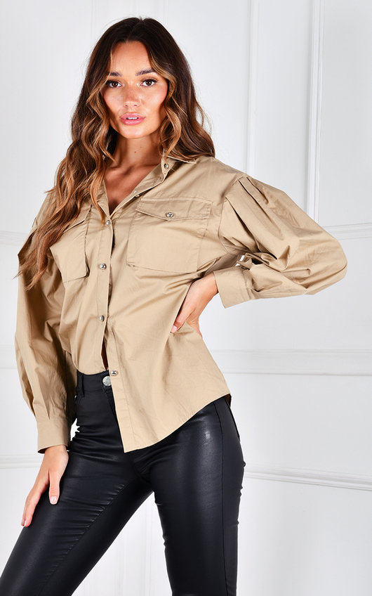 Lissie Oversized Sleeve Button Up Shirt