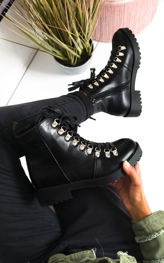 Lissy Lace Up Flat Boots