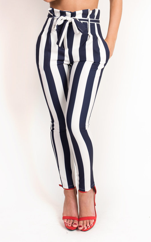 Livia Striped High Waist Trouser