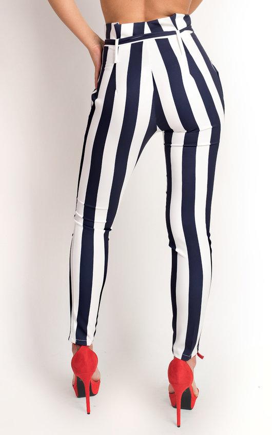 Livia Striped High Waist Trouser