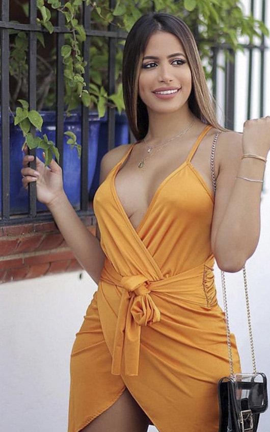 Liza Wrap Mini Dress
