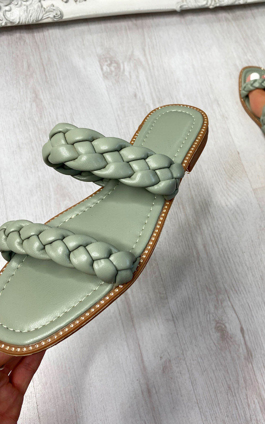 Lizzie Woven Braided Double Strap Sandal