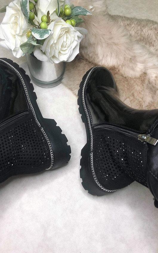 Logan Patent Ankle Boots
