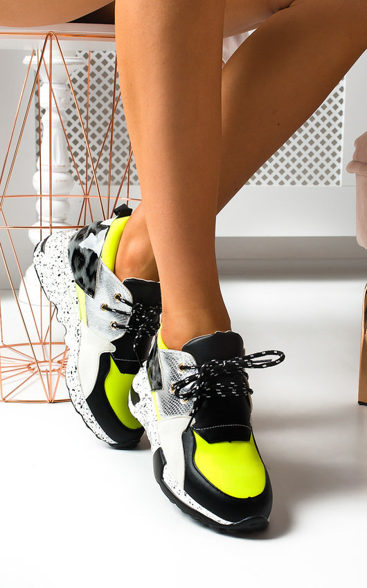 Lois Colour Block Chunky Trainers