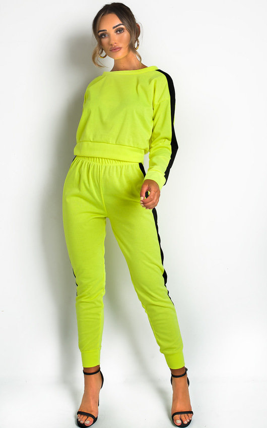 Lois Neon Striped Lounge Co-ord