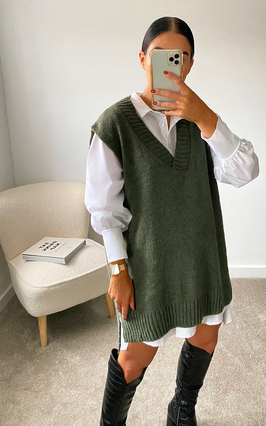Lois Sleeveless Knitted Vest