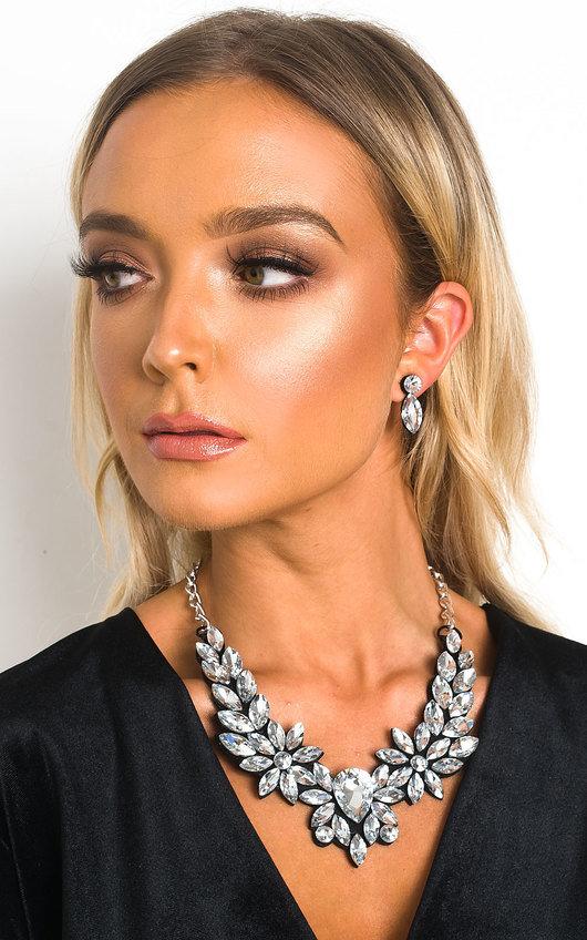 Lola Crystal Drop Necklace Set