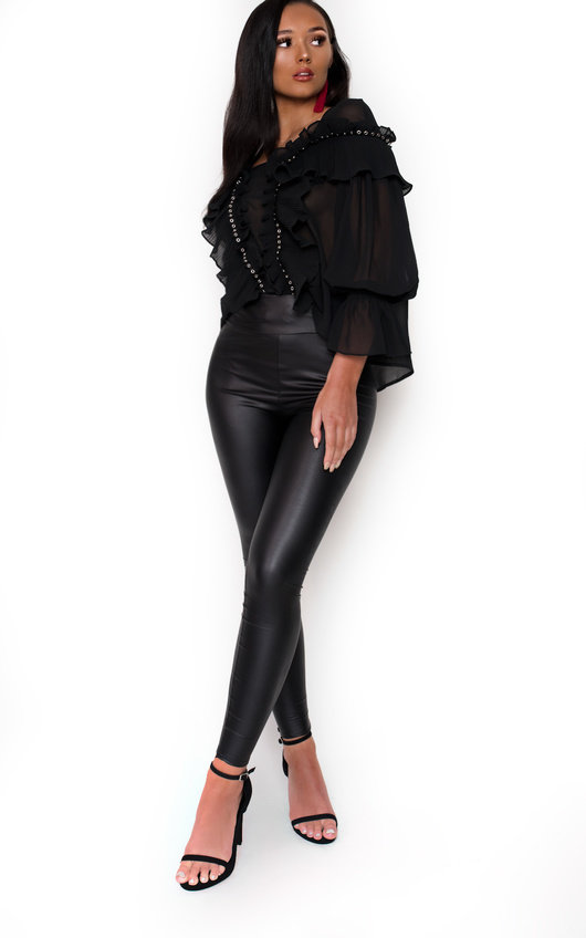 Lola Skinny Leather Look Leggings