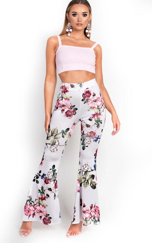 Lolita High Waist Stretch Flared Trousers