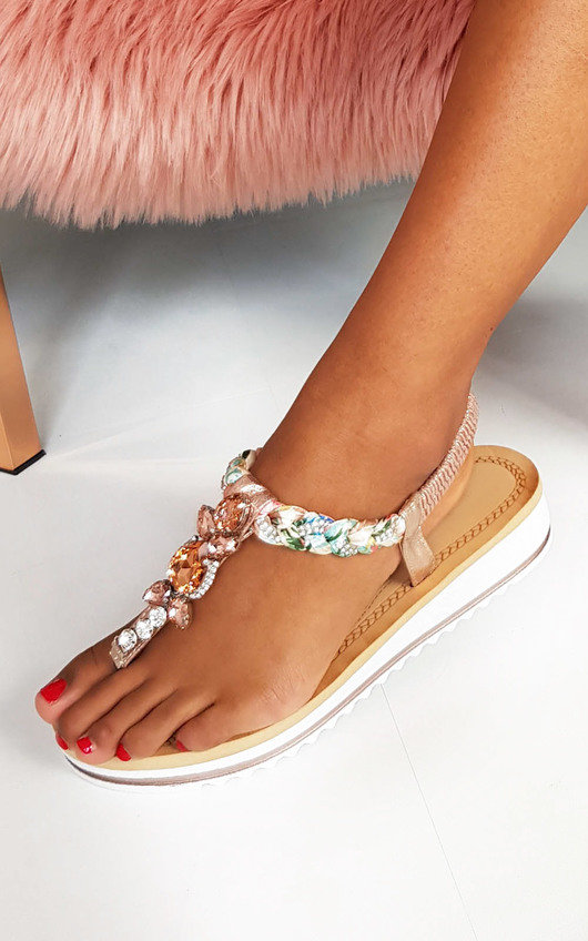 Lolita Jewelled T-Bar Sandals