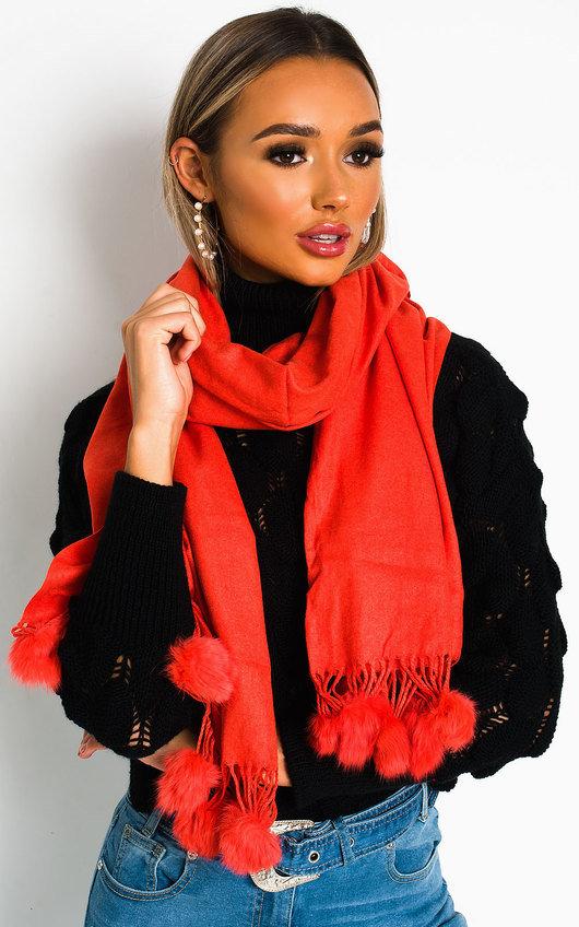 Lolla Pom Pom scarf