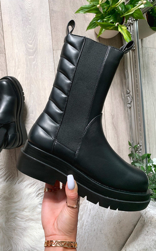 Loren Faux Leather Long Boots