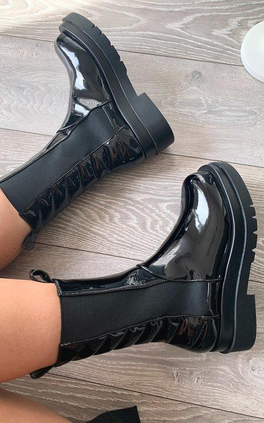 Loren Patent Long Boots