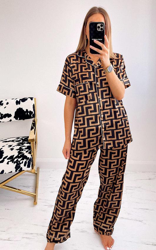 Lorette Button Up Printed Pyjama Co-Ord