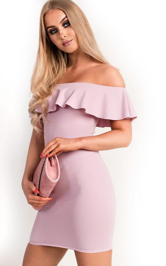Lori Bardot Frill Bandage Dress