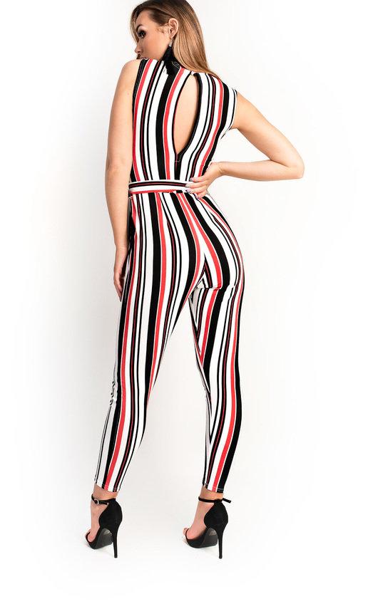 Lorn Stripe Tie Waist Jumpsuit