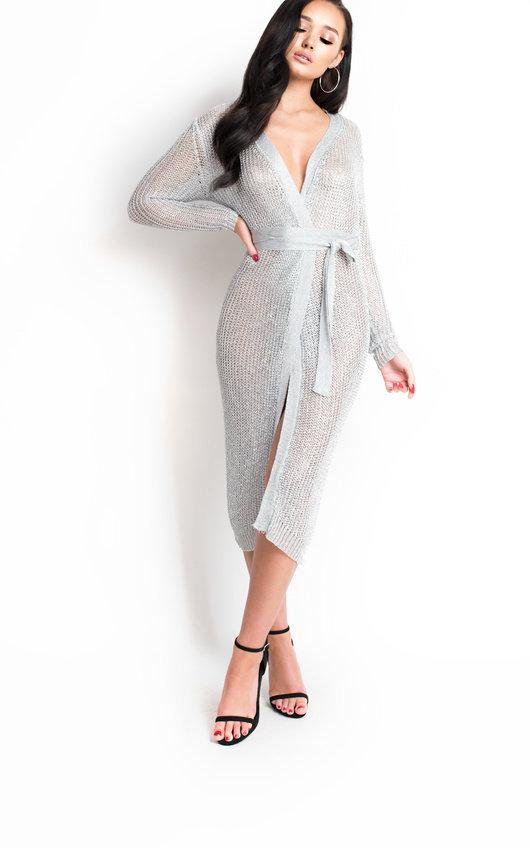 Lorna Metallic Knit Dress