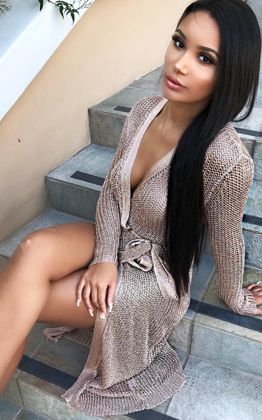 Lorna Metallic Knit Dress