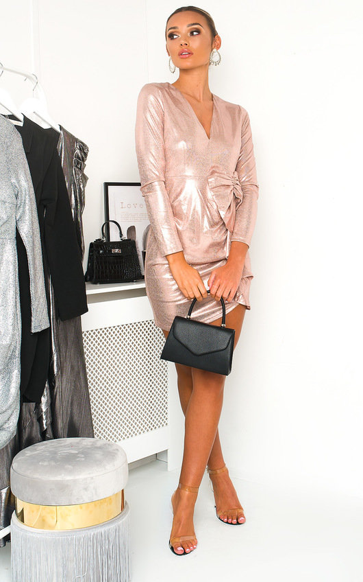 Lorna Metallic Mini Dress