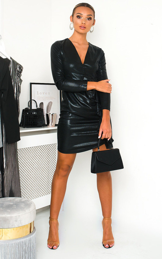 Lorna Metallic Mini Dress