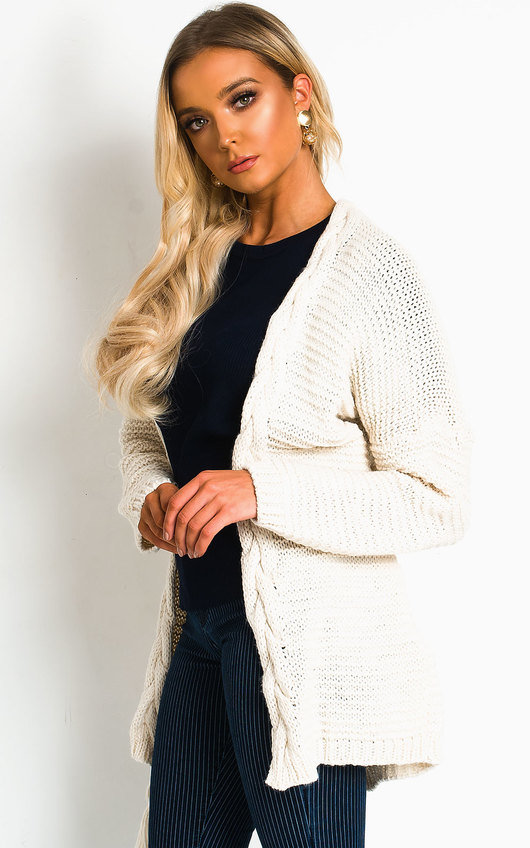 Lottie Longline Tassel Knitted Cardigan