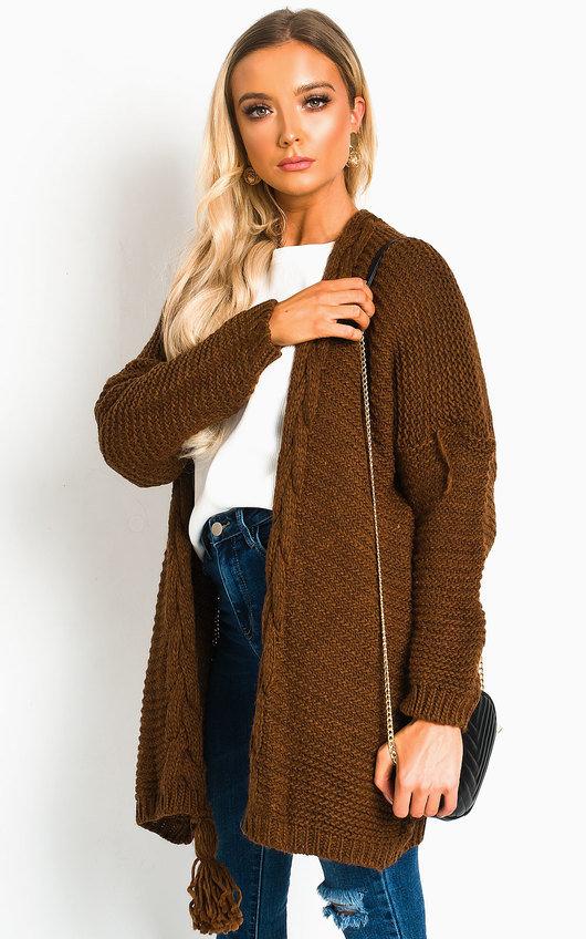Lottie Longline Tassel Knitted Cardigan