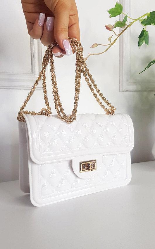 Lottie Quilted Chain Detail Handbag