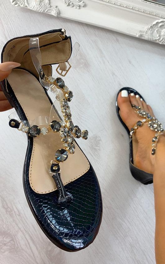 Lottie Strappy Jewel Embellished Sandals