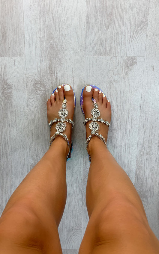 Lottie Strappy Jewel Embellished Sandals