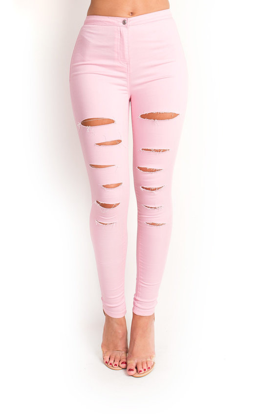 Loucia Skinny Mid-Rise Ripped Jeans