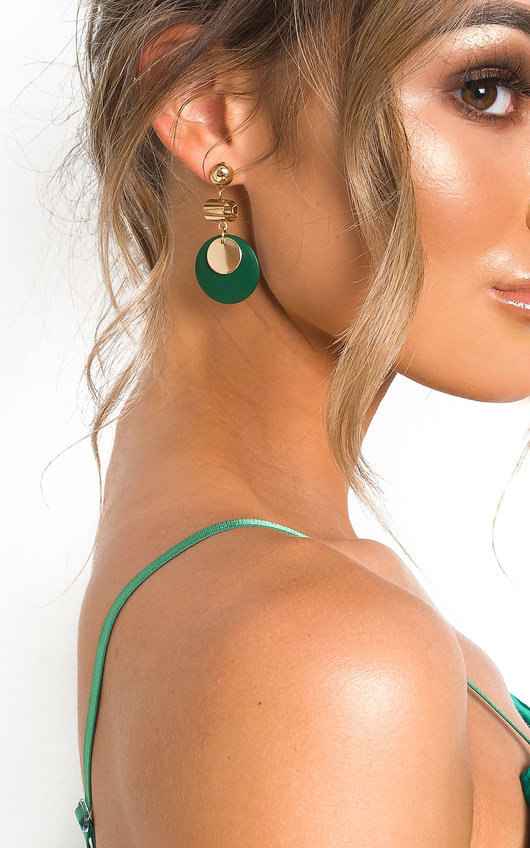 Louisa Circle Drop Earrings